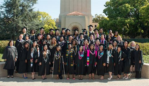 group photo of graduating students and teachers